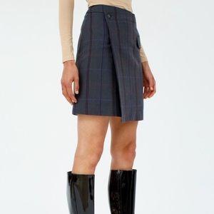 ACNE STUDIOS Herringbone Wrap Skirt Grey purple